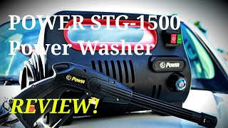 POWER 1500 PSI 1.76 GPM Electric Pressure Washer REVIEW! STG-1500R