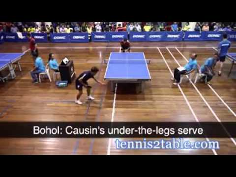 Funny Video: Funny table tennis match France vs Philippines