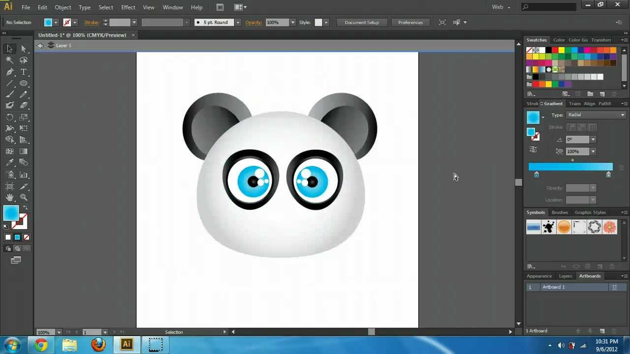 illustrator cs6 cc create cartoon characters tutorial