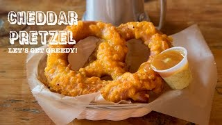 TRUFFLE CHEDDAR & CHURRO Pretzels on Let's Get Greedy! Food Review #76