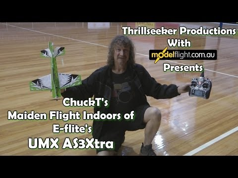 E Flite UMX AS3Xtra 'Indoors' The Maiden With ChuckT