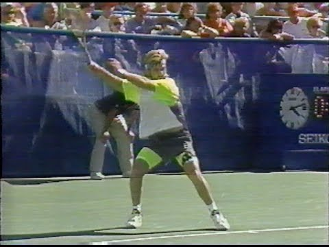 Agassi vs Berger US Open 1990