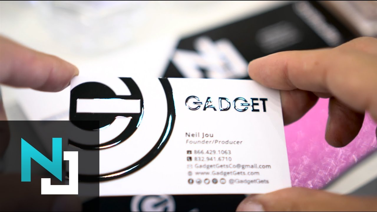 Suede Business Cards with Raised Spot UV - YouTube
