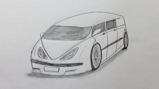 How to draw a car tutorial
