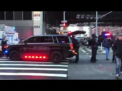 New York, New Jersey Port Authority Police Emergency Service Unit At Midtown Terrorist Attack