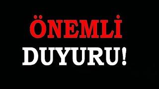 ÇOK ÖNEMLİ DUYURU -- HERKES İZLESİN !!! / YENİ ANİME ÖNERİ KANALIM !!!
