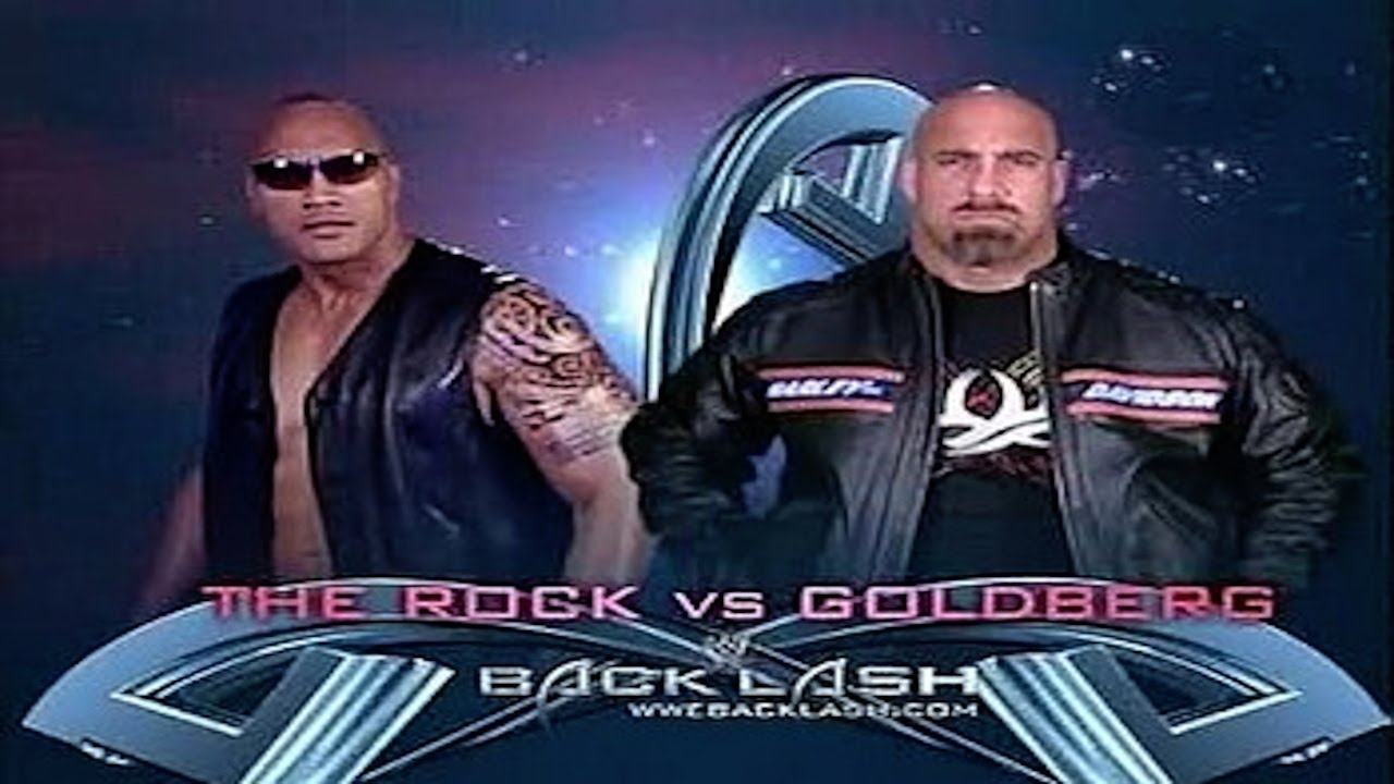 Resultado de imagem para goldberg vs the rock backlash
