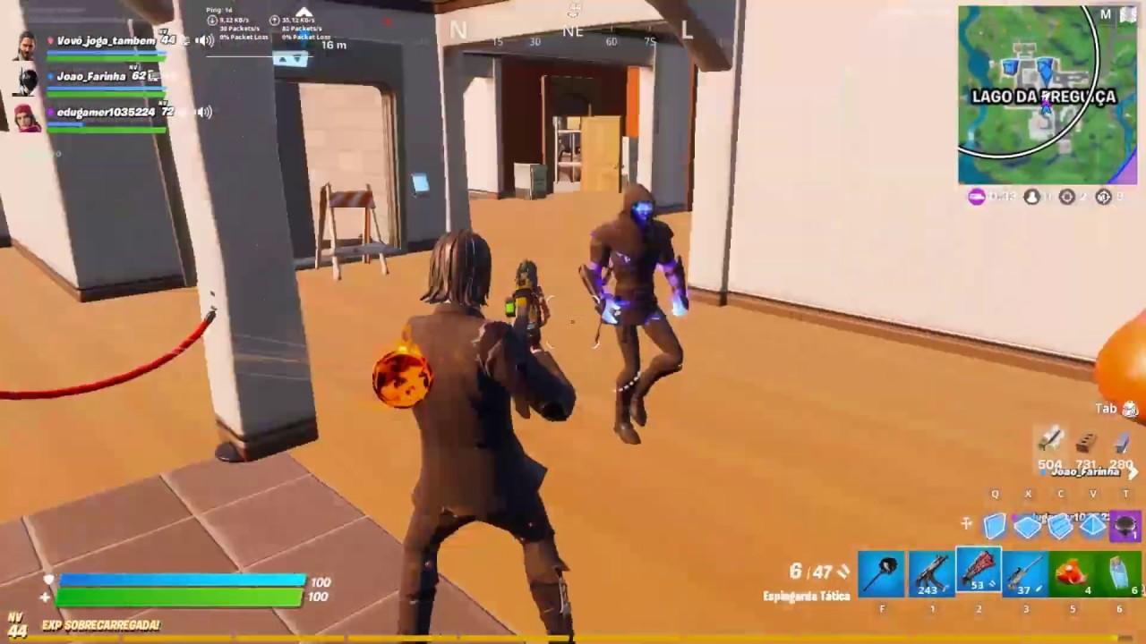 Arena matando geral Vovô tentando ser pró player.