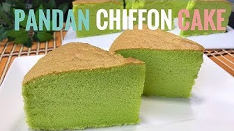 Pandan Chiffon Cake With Coconut Milk Recipe | Cooking ASMR