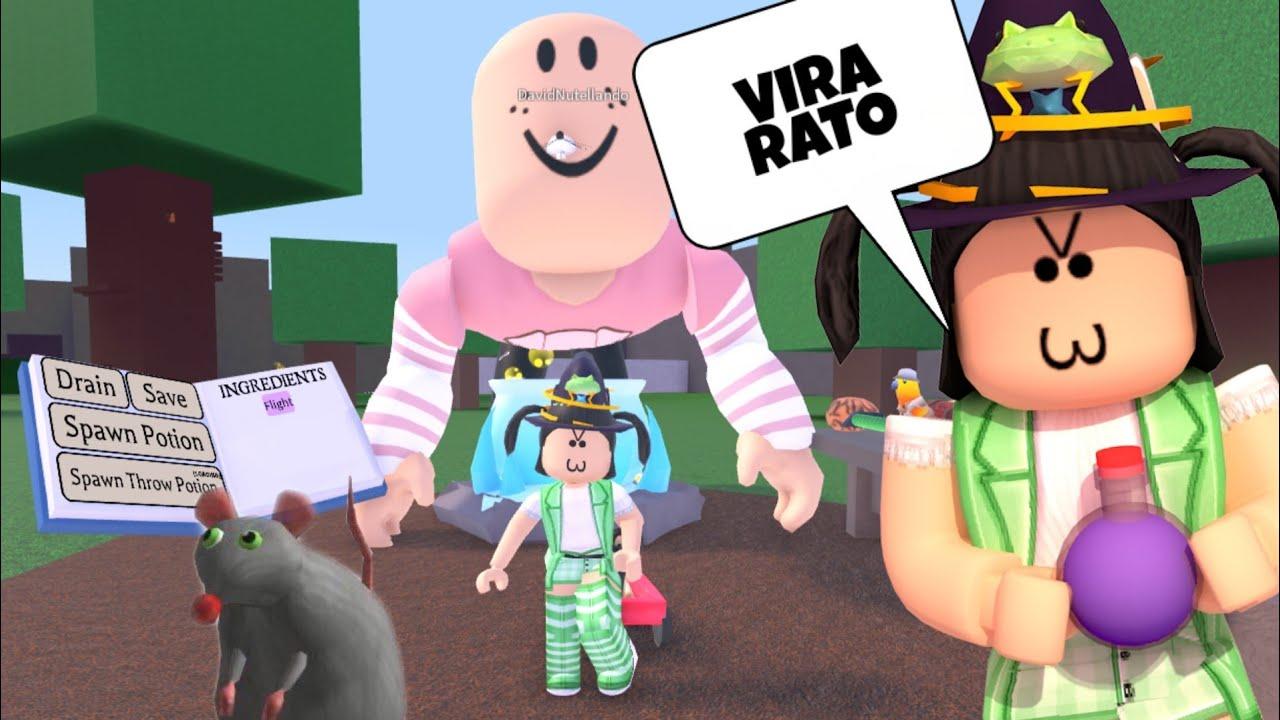 BRUXINHA TRANSFORMOU O MENINO EM RATO GIGANTE NO WACKY WIZARDS!! (Roblox)