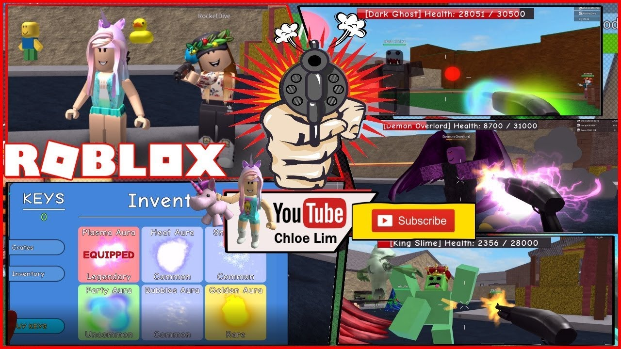 Chloe Tuber Roblox Zombie Attack Gameplay Three Boss Fight And