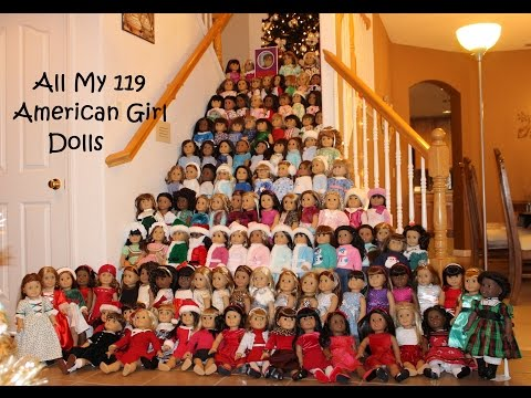 All of My 119 American Girl Dolls-- December 2016!
