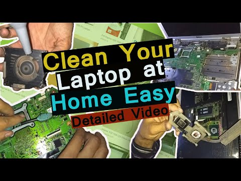 CLEAN LAPTOP AT HOME EASY