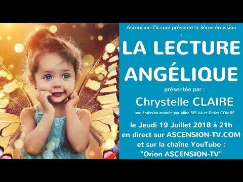 """[BANDE ANNONCE] 3ème émission : """"La Lecture Angélique"""" avec Chrystelle CLAIRE le 19/07/2018 à 21h"""