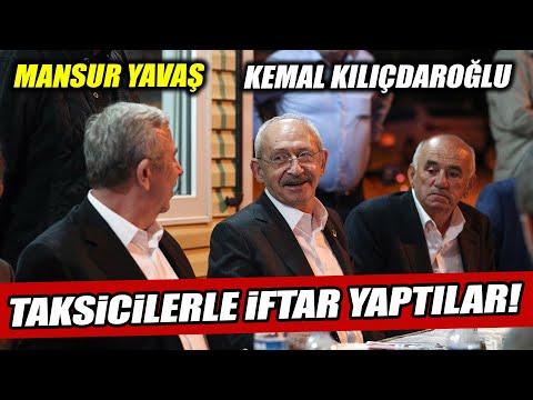 """Kemal Kılıçdaroğlu ve Mansur Yavaş taksici esnafıyla iftar yaptı! """"En büyük günah budur!"""""""