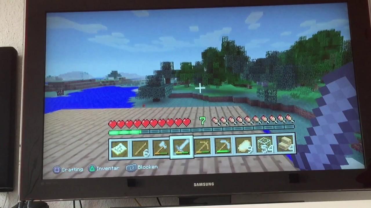 minecraft playstation 003 mein haus erweitern youtube. Black Bedroom Furniture Sets. Home Design Ideas