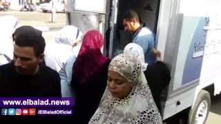 إقبال كبير على سلع الجيش الغذائية بالسيدة زينب.. فيديو وصور