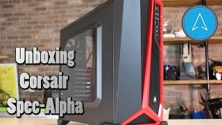corsair Carbide Series Spec-alpha Mid-tower Gaming Case- Black/Red Unboxing