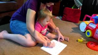 Sadie doing letter sounds 22 months old Thumbnail