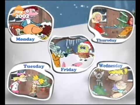 2002 Nicktoons TV Christmas Weekdays - YouTube