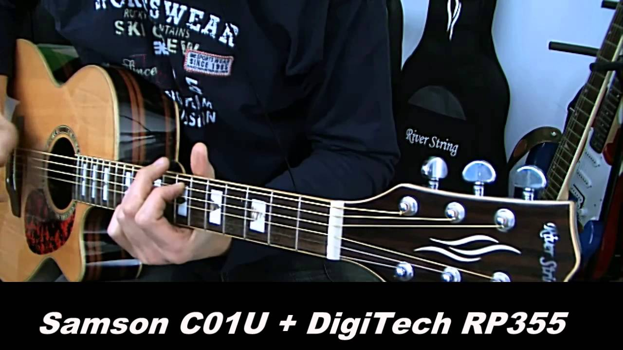 recording acoustic guitar c01u usb microphone digitech rp355 guitar effects youtube. Black Bedroom Furniture Sets. Home Design Ideas