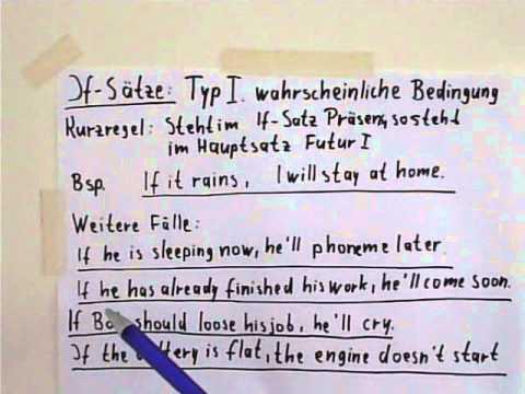 if stze typ 1 - If Satze Beispiele