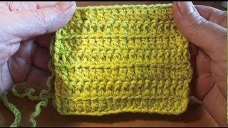 Столбик с одним накидом за переднюю стенку Вязание крючком Урок 11