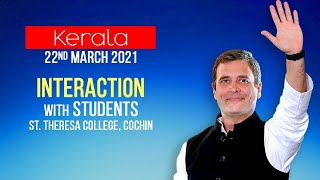 LIVE: Shri Rahul Gandhi interacts with students of St. Theresa College