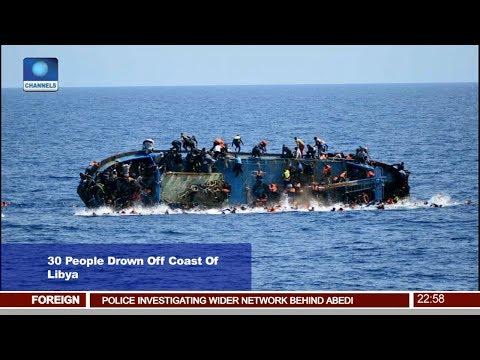 News@10: 30 People Drown Off Coast Of Libya 24/05/17 Pt. 4