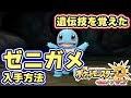 【ポケモンUSUM】島スキャンで遺伝技を覚えた「ゼニガメ」の入手方法と出現場所 月曜日メレメレ島【ウルト�