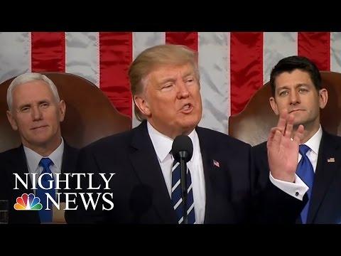Will President Donald Trump Turn Speech Rhetoric Into Reality? | NBC Nightly News