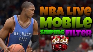 The BEST Sniping Filter Ever!! | NBA LIVE MOBILE