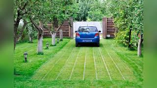 Автомобильная парковка на даче