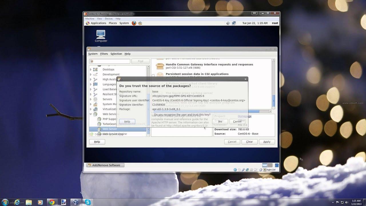 Setup a Linux CentOS 6 Lamp Stack using GUI (Gnome) - Installation ...