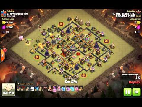 Clash Of Clans - brutus vs ROMANIA STARS (brutus got served)