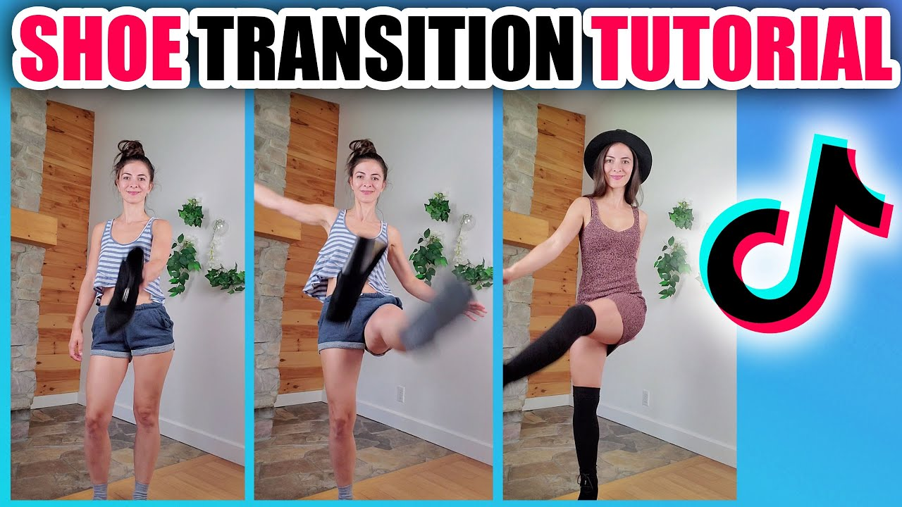 Tiktok Shoe Kick Outfit Change Transition Tutorial Step By Step Youtube