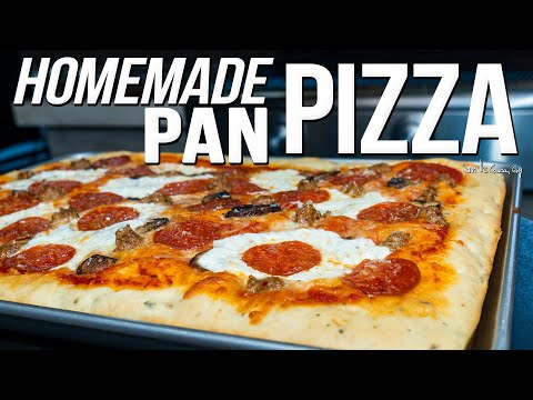 THE BEST HOMEMADE PAN PIZZA | SAM THE COOKING GUY 4K