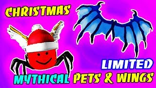 I GOT THE RARE MYTHICAL CHRISTMAS PET & WINGS IN MINING SIMULATOR UPDATE!! (Roblox)