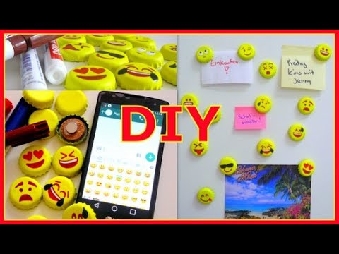 diy emoji whatsapp smiley magneten aus kronkorken basteln youtube. Black Bedroom Furniture Sets. Home Design Ideas