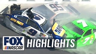 Danica Patrick & Chase Elliott collected in violent crash | 2018 DAYTONA 500 | FOX NASCAR