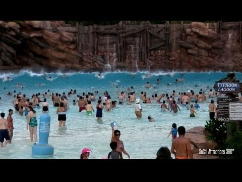 [HD] Impressive Wave Pool - Huge Tidal Waves at Disney's Typhoon Lagoon