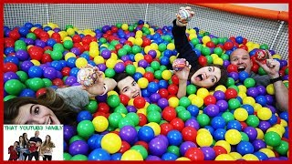 Last To Leave Ball Pit Challenge Hide And Seek! That YouTub3 Family I Family Channel