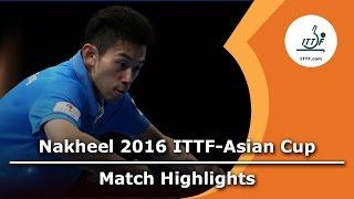 2016 asian cup highlights wong chun ting vs gao ning 3rd place match