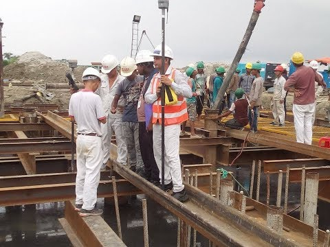 Padma Bridge Pile Cap Measurement By Surveyor And Checking Work By Consultant Taking Some Picture