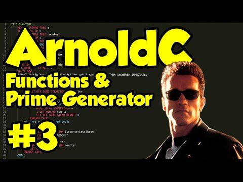 ArnoldC Programming Tutorial #3 - Functions and Prime Number Generator Example thumbnail