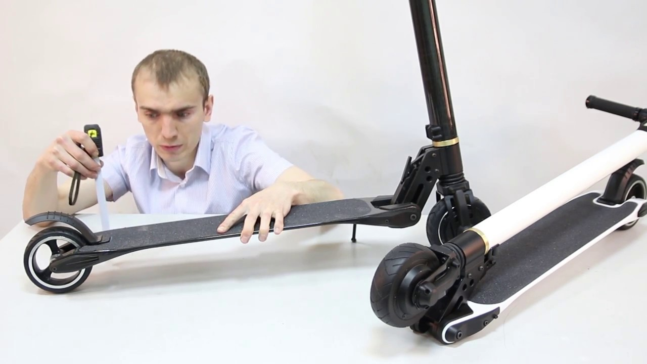 Электросамокат <b>Carbon Fiber</b> Scooter (копия Jack Hot) - YouTube