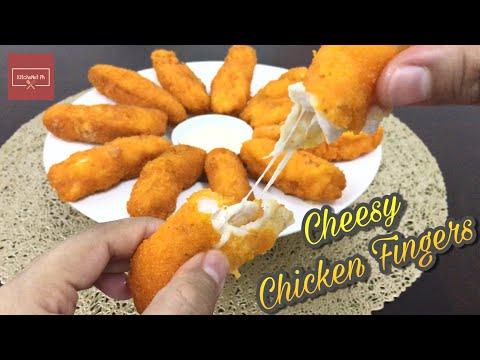 Cheesy Chicken Fingers With Garlic Mayo Dip | KitcheNet Ph
