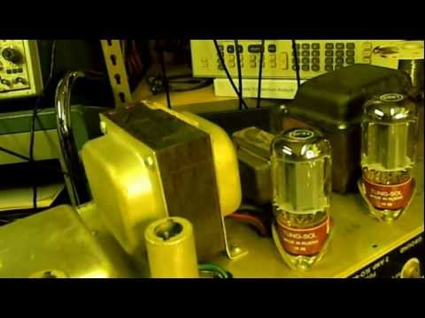 A Night Working On Vintage Tube Amplifiers Part 1 of 2.wmv