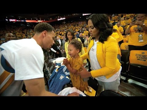 Stephen Curry's Daughter Does Adorable Victory Dance After Game 1