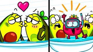 Best Friend vs Boyfriend | Funny Cartoon | Avocado Couple